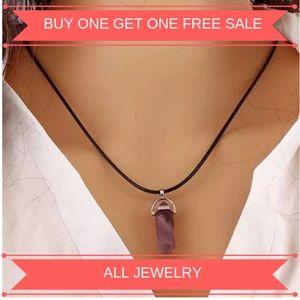 Jewelry - Amethyst Quartz Healing Chakra Gemstone Pendant